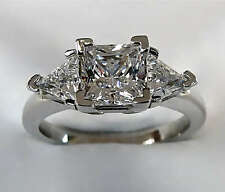 2.16 CT PRINCESS CUT ENGAGEMENT RING 14K SOLID GOLD