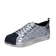 Mädchen schuhe HOLALA 40 sneakers silber glitter lack BR384-40