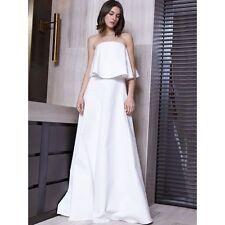"NWD $785 ALEXIS ""OLA"" WHITE RUFFLE MAXI BRIDAL BEACH DRESS XS"