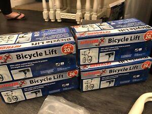4 x 20KG Bicycle Bike Ceiling Hanger Lift Pulley Hoist Garage Rack Storage Stand