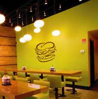 ik1472 Wall Decal Sticker fast food hamburger cheese burger snack fast food