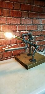 Christmas gift Steampunk industrial Retro rustic quirky Design lamp. snooker man