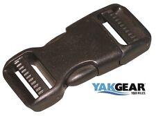 YakGear 1 inch Heavy Duty Side Release Buckles - Lots of 25