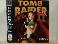 TOMB RAIDER II STARRING LARA CROFT BLACK LABEL PLAYSTATION PS 1 PSX GAME! VG