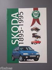 R&L Promo Brochure: Skoda 100 Years Anniversary 1895-1995