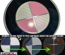 Carbon Fiber White & Light Pink Sticker Overlay COMPLETE SET FITS BMW Emblems