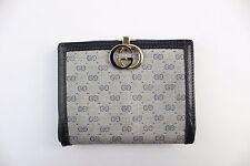 Gucci Navy Monogram Print Bi Fold Wallet