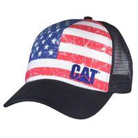 USA Caterpillar CAT Equipment Trucker Twill Mesh Diesel Cap Hat America Cap