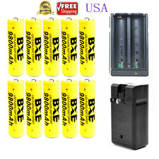 10x 18650 9800mAh 18650 Battery 3.7v Li-ion Rechargeable Batteries 1x Charger