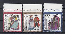 Briefmarken BRD 1994 Trachten Mi.Nr.1757-59 Rand