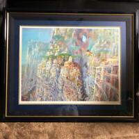 Naohisa Inoue Multi-tiered City Giclee Print 200 Limited Genuine F/S from Japan