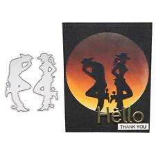 Dancing Couple Cutting Dies Stencil DIY Scrapbooking Paper Card Embossing Craft
