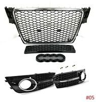RS4 Grill Look für Audi A4 B8 8K S4 Limo Avant Wabengrill Kühlergrill Grill 6