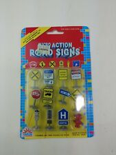 Brand New Vintage 1989 Funrise Micro Action Road Sign Classic Toy Set #10200