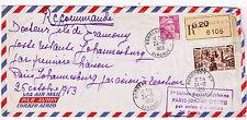 ENVELOPPE RECOMMANDÉE-1er liaison aérienne PARIS-JOHANNESBURG-AVIATION-1933