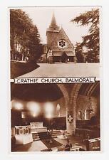 RPPC,Balmoral,Crathie,Scotland,U.K.Crathie Church,2 Views,Used,Lossiemouth,1953
