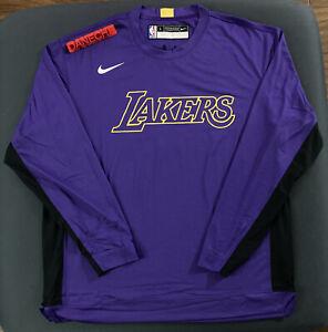 LA LAKERS Nike Long Sleeve Performance Shooting Shirt L-TALL RARE PURPLE LEBRON