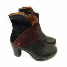 The Art Company 7 Leather Ankle Booties Heel Amsterdam Patchwork EU 37 $350