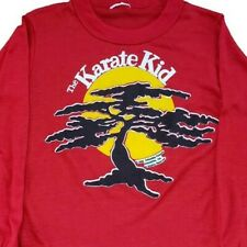 The Karate Kid T Shirt Vintage 80s 1984 Long Sleeve Made In USA Size 10-12