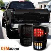 Fits 2007-2013 Tundra Black Smoke Full LED Functionl Taillights Brake Lamp Light