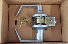 Yale AU64080LN HD Cylindrical Lever Handle Lockset 494 x 497 US26D Keyed ENTRY