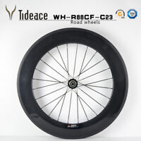 88mm T800 Carbon Fiber Road Racing Bicycle Wheels Aero Carbon Bike Wheelset OEM