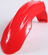 ACERBIS FRONT FENDER (RED) 2040230227 Fits: Honda CRF450R,CRF250R,CRF250X,CRF450