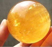 Natural Citrine Calcite Quartz Crystal Sphere Ball Healing Gemstone40-100mm+sd