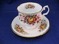 VINTAGE ROSINA QUEENS TEA CUP AND SAUCER - FINE BONE CHINA - MADE IN ENGLAND
