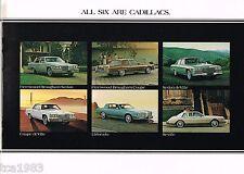 1981 CADILLAC Brochure:COUPE/SEDAN DeVILLE,ELDORADO,SEVILLE,FLEETWOOD Brougham