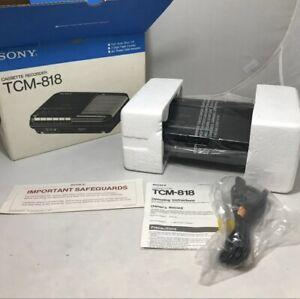 Vintage SONY TCM-818 / BM CASSETTE RECORDER 120V New Tested Work (read)