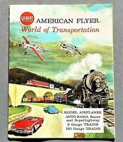 ORIGINAL 1963 AMERICAN FLYER MODEL TRAINS, PLANES & CARS PRICE CATALOG ~ 36 PGS