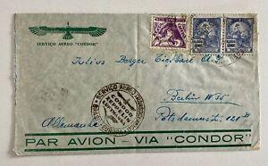 1935 Condor Zeppelin Multifranked Brazil to Berlin Germany