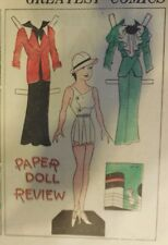 Blondie Sunday by Chic Young from 6/3/1934 Rare Paper Doll Full Page Size !