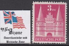 GERMAN BIZONE American & Brit occ  Castles 3Mk Mi 99/IIwg  perf 11 cv 240$ MNH**