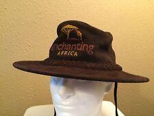 Annabelle Thom Kenya Enchanting Africa Safari Hat Wide Brim Brown Leather Bush