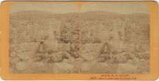 Terre Sainte Fontaine St Philippe Photo Andrieu Stereo Vintage Albumine ca 1868