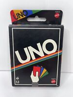 Mattel Retro Edition UNO Card Game 108 Cards English Spanish Instrustions NEW