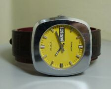 VINTAGE DELMA AUTOMATIC DAY DATE SWISS MENS WRIST WATCH E204 Old used