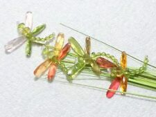 Jeweled Dragonfly Floral Picks 28in ORANGE MIX Spring Decor Weddings Crafts BF