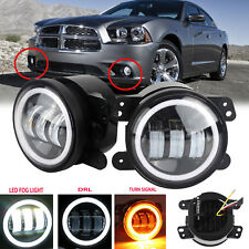 2Pcs 4'' inch LED Halo Fog Light Super Bright Bulb for Dodge Charger 2011-2013