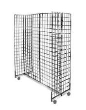 Get 1 Gridwall Display Set Gondola base w/casters + Gridwall panels 4 pcs 2x5 ft