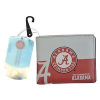 Brand New NCAA Alabama Crimson Tide Men Women Synthetic Leather Bi-Fold Wallet