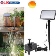 Solar Powered Submersible Water Fountain Garden Pool Pond Aquarium Water Pump UK