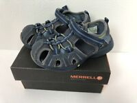 Merrell Boys Toddler 7.5 Waterproof Hydro Hiker Trail Sandals Shoes Navy