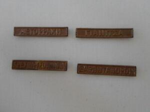 Greece ,balkan war 4 bronze decoration bar clasps 1912-1913