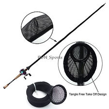 Tangle Free Casting Fishing Rod Cover Jacket Sleeve Pole Glove Sock RST