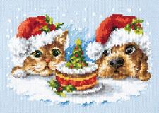 Cross Stitch Kit de un delicioso Navidad (perros Y Gatos) Art. 19-27