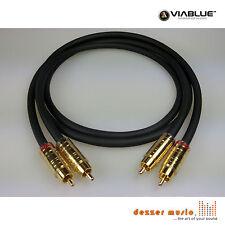 ViaBlue 2x 1m Cinch-Kabel NF-S1 Silver Quattro TS / High End... Bestnote NEU