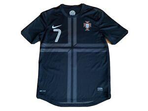 Official Nike Dri-Fit Portugal 2013 Rare Black Cristiano Ronaldo Mens Sm. Jersey
